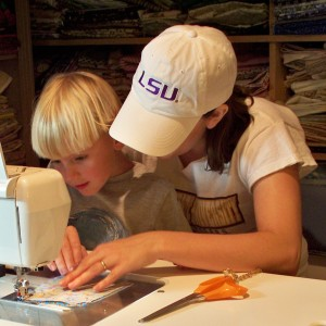 teaching sewing to crb