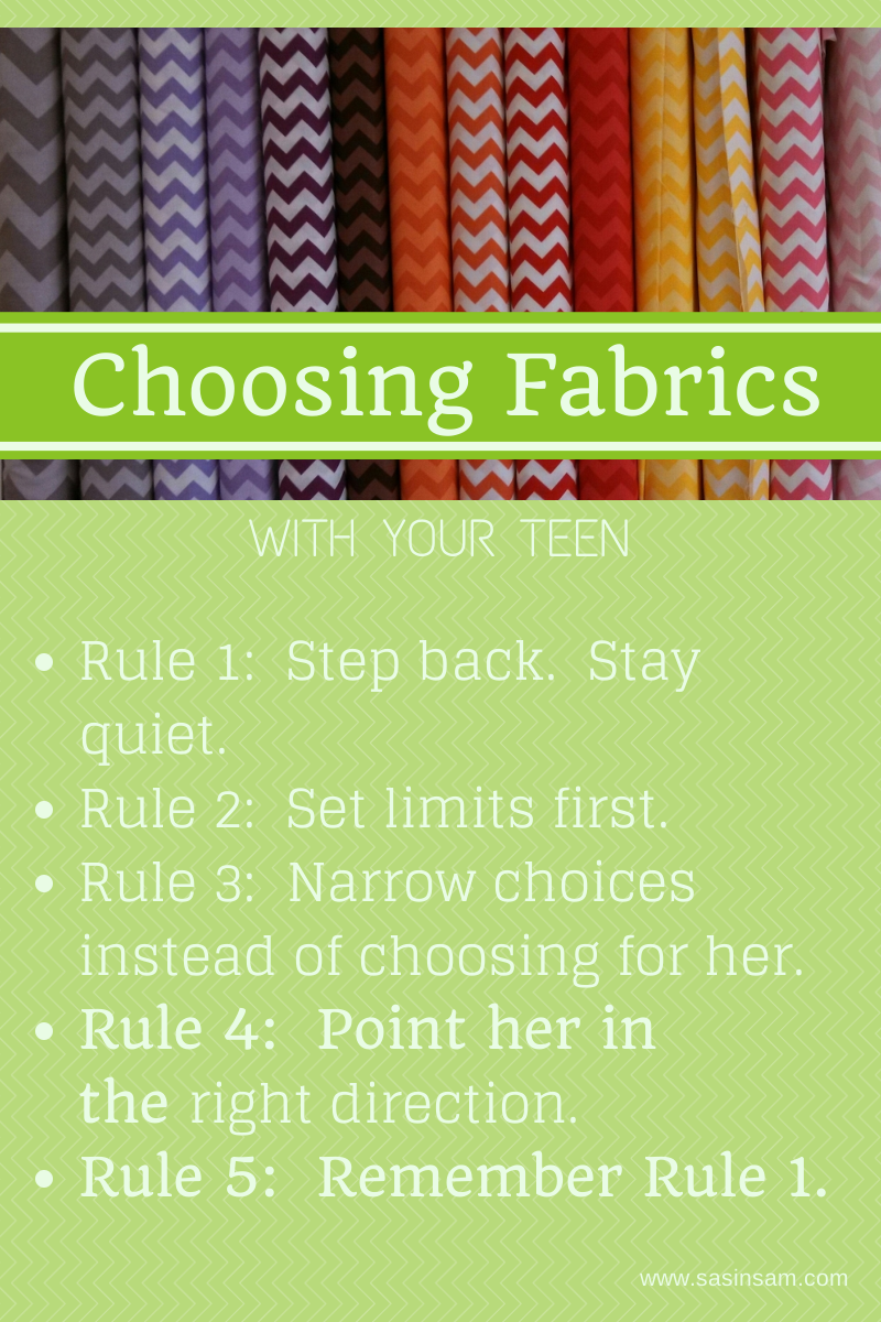 Choosing Fabrics with Teens