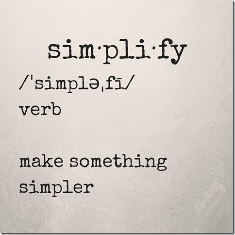 simplify verb make something simpler